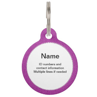 Text Template - Orchid Knit Stockinette Stitch Pet Tag