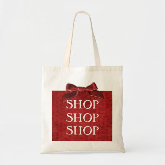 Text Template - Red Nubby Chenille Fabric Tote Bag