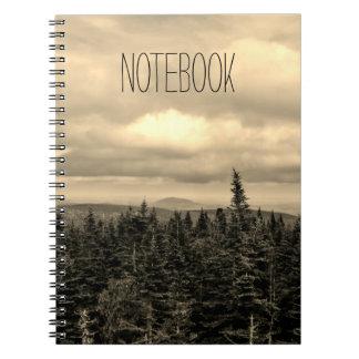 Text Template | Sepia Landscape Notebook
