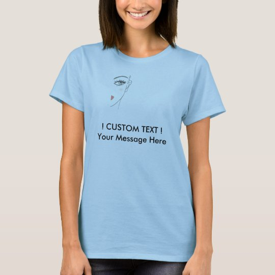 text template -with small img warning T-Shirt