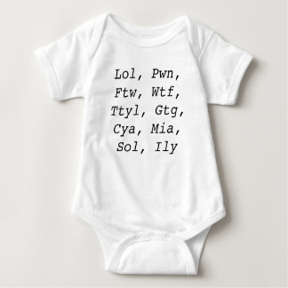 Text You Later Mom Baby Bodysuit