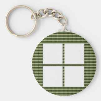 TEXT your SQUARES Template Basic Round Button Keychain
