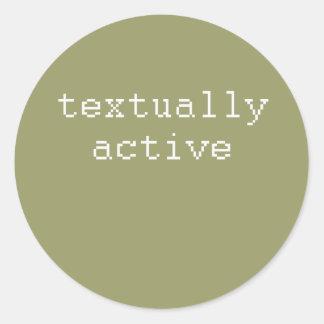 textactive pegatina redonda