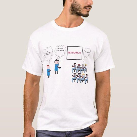 Textaholic Cartoon T-shirt