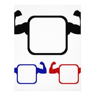 Textbox con doblar los brazos membrete a diseño
