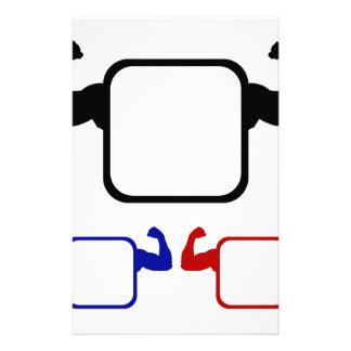 Textbox con doblar los brazos  papeleria de diseño