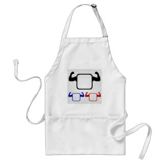Textbox with flexing arms adult apron