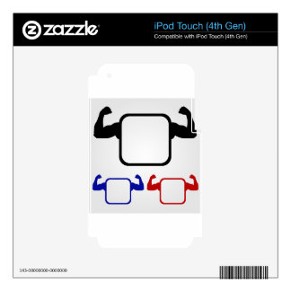 Textbox with flexing arms decal for iPod touch 4G