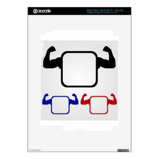 Textbox with flexing arms iPad 3 decals