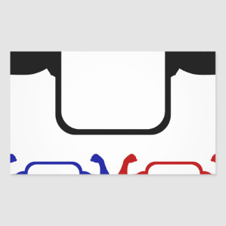 Textbox with flexing arms rectangular sticker