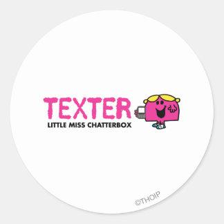Texter Classic Round Sticker