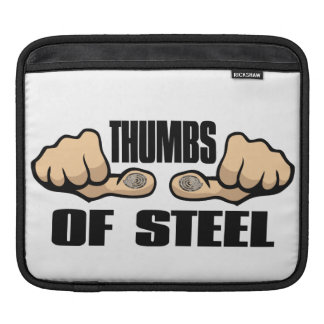 Texter or Gamer Thumbs of STEEL Sleeves For iPads