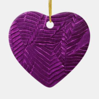 textile-1248purple adorno navideño de cerámica en forma de corazón