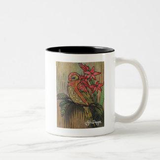 Textile Art Bird Coffee Mug