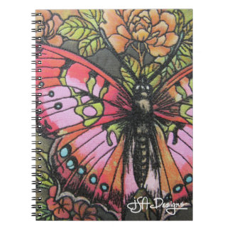 Textile Art Butterfly Notebook