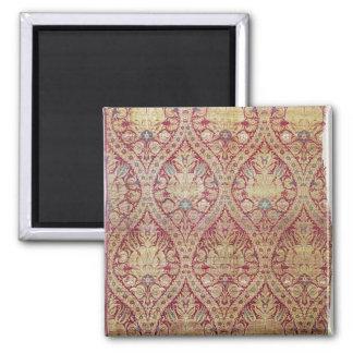 Textile design, 16th/17th century 2 inch square magnet