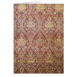 Textile design, 16th/17th century card