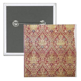Textile design, 16th/17th century pinback button