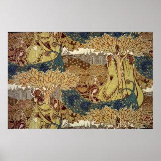 Textile design by Christopher Dresser Poster
