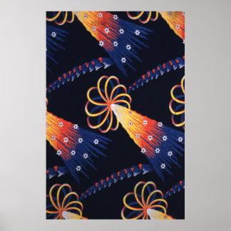 Textile design, Christopher Dresser Poster