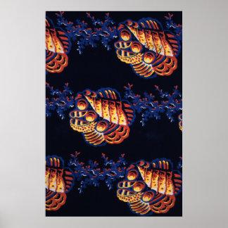 Textile design Christopher Dresser Poster