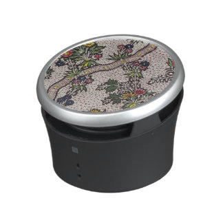 Textile design of plant forms and serpentine ribbo bluetooth speaker
