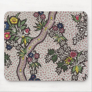 Textile design of plant forms and serpentine ribbo mouse pad