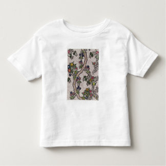 Textile design of plant forms and serpentine ribbo toddler t-shirt