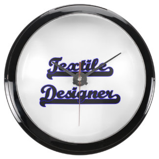 Textile Designer Classic Job Design Aquavista Clocks