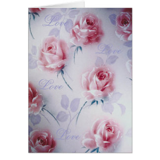 Textile Designs Beautiful Pink Roses Cards
