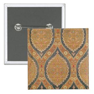 Textile panel, 16th/17th century 2 inch square button