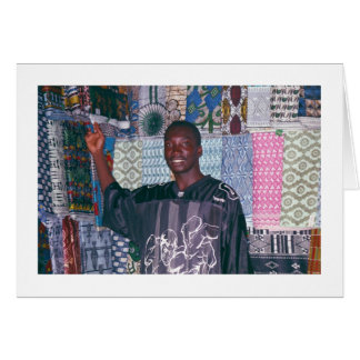 Textile Seller at Banjul Market. Card
