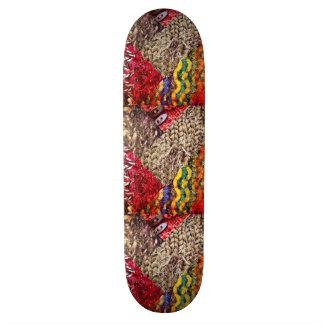 Textile Texture Collage Skateboard