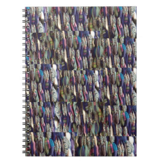"""Textile Weaving in Blue"" notebook"