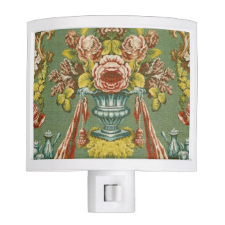 Textile with a repeating floral motif night light