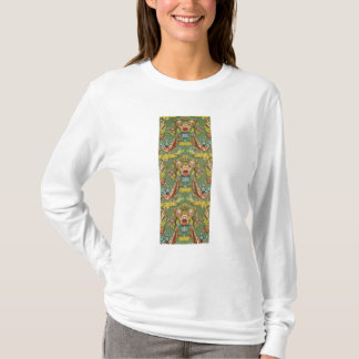 Textile with a repeating floral motif T-Shirt