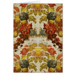 Textile with a repeating floral pattern greeting card