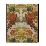 Textile with a repeating floral pattern iPad folio case