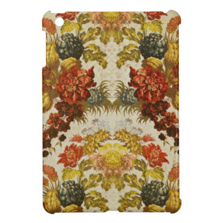 Textile with a repeating floral pattern iPad mini cases