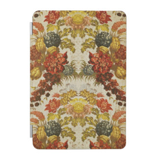Textile with a repeating floral pattern iPad mini cover