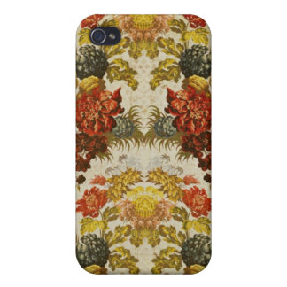 Textile with a repeating floral pattern iPhone 4/4S cover