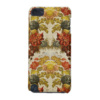 Textile with a repeating floral pattern iPod touch (5th generation) covers