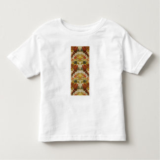 Textile with a repeating floral pattern toddler t-shirt
