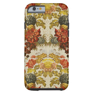 Textile with a repeating floral pattern tough iPhone 6 case