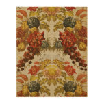 Textile with a repeating floral pattern wood wall art