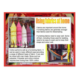 Textiles, Fashion, Fabrics in the home Postcard