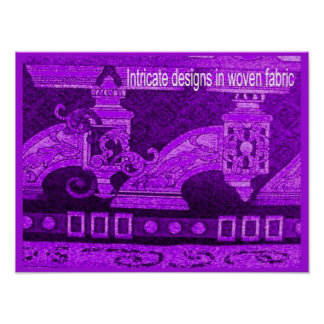 Textiles, Fashion, Intricate woven designs Poster