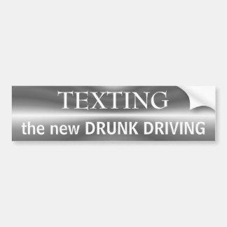 Texting 1 pegatina para el parachoques del ~ pegatina para auto