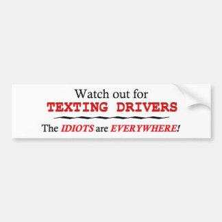 Texting anti mientras que conduce Bumperstickers y Pegatina Para Auto