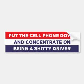 Texting Car Bumper Sticker
